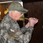 Charles Hudson of Travelers Rest, SC demonstrating how to use a Trumpet Call